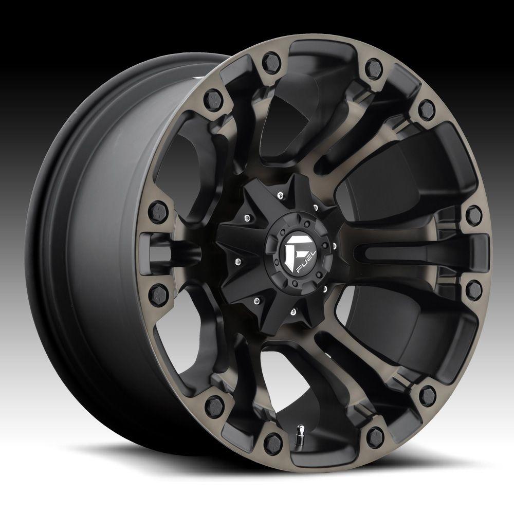 Fuel Vapor D569 Matte Black Machined W Dark Tint Custom Truck W