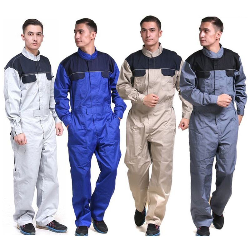 men work overalls long sleeve wear resistant factory on work coveralls id=11985