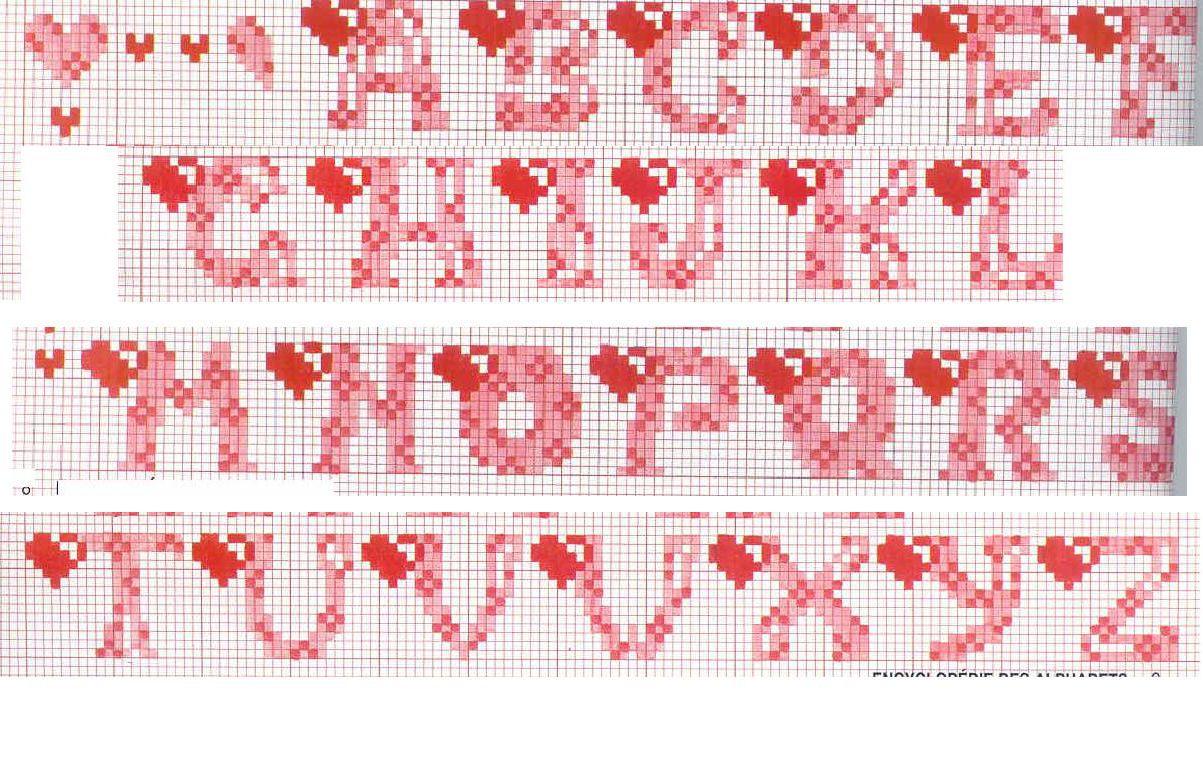 for Schemi punto a croce alfabeto