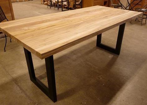 """Table """"Nu"""" Teck Recyclé / Métal (2 Tailles) - Architeck - Meubles En"""