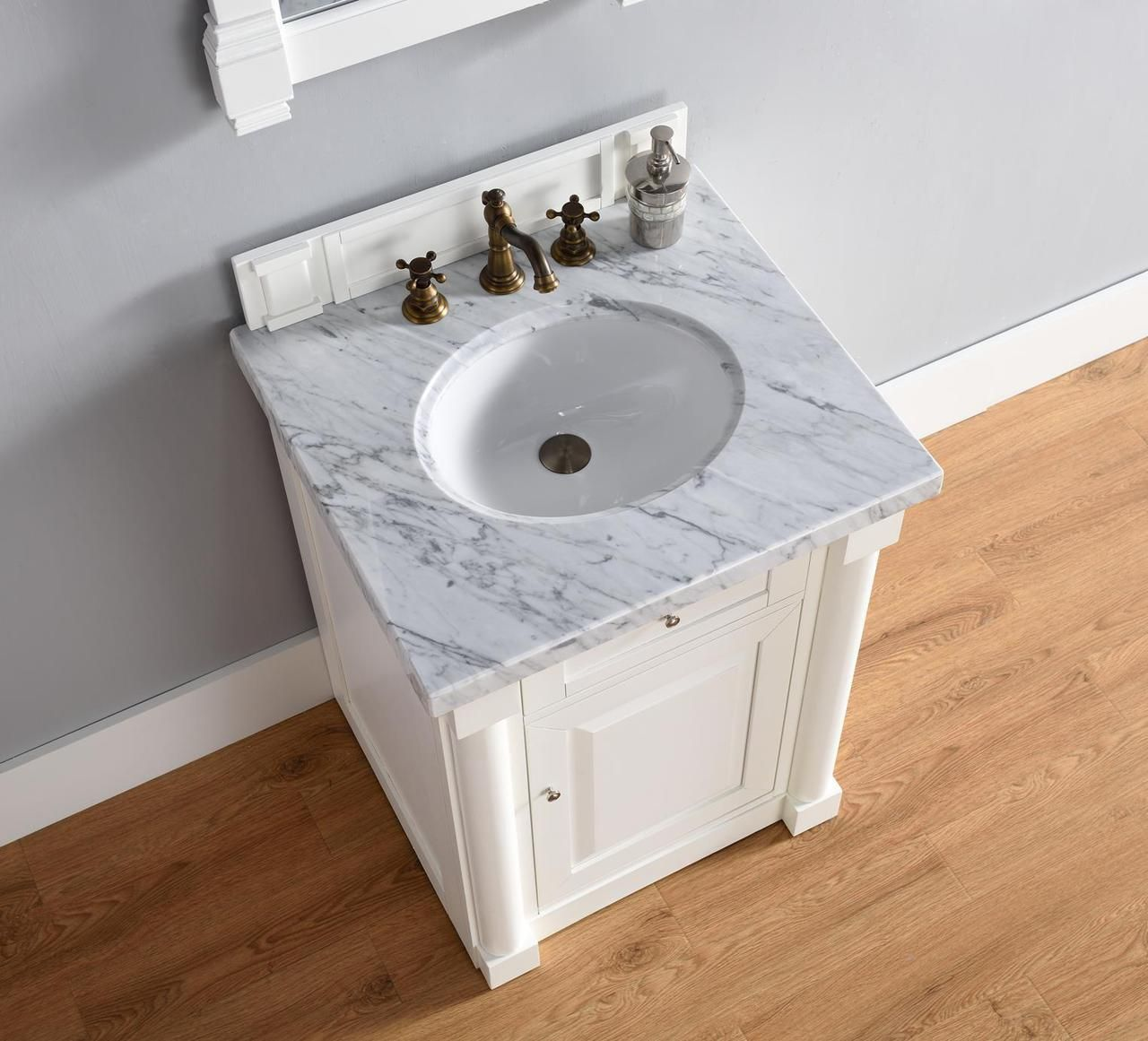 Website Photo Gallery Examples Abstron inch White Finish Single Sink Bathroom