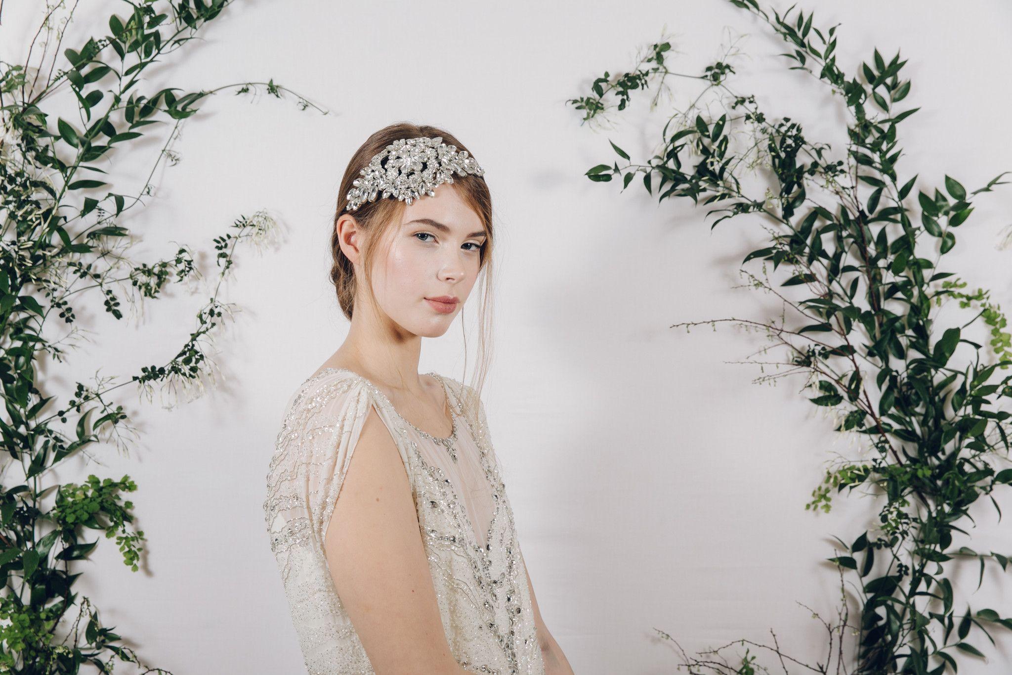 Hattie statement crystal bridal headband   Headpieces, Wedding ...