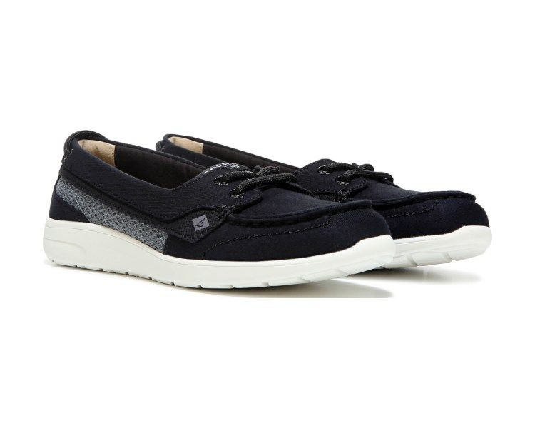 Sperry Rio Point Canvas Boat Shoe Black