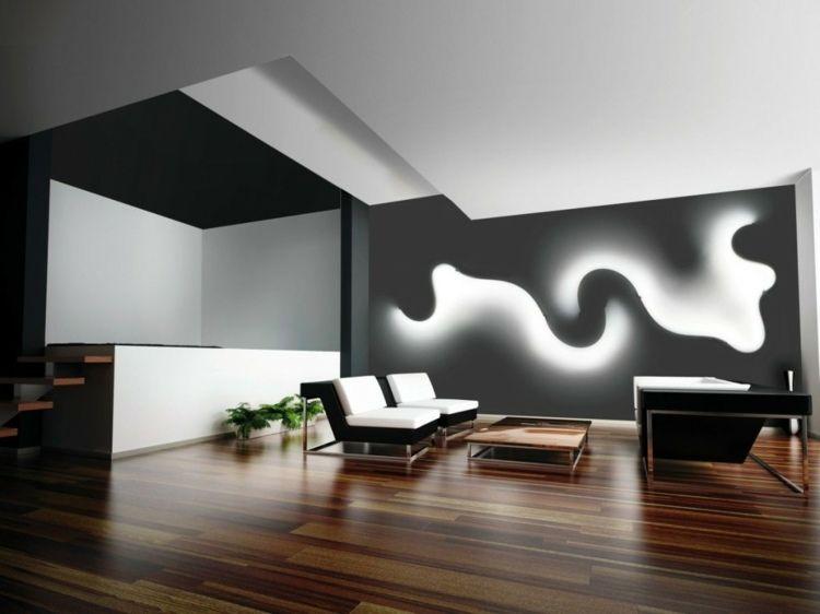 ein design zur beleuchtung der wand als moderne idee | licht ... - Design Beleuchtung Im Wohnzimmer