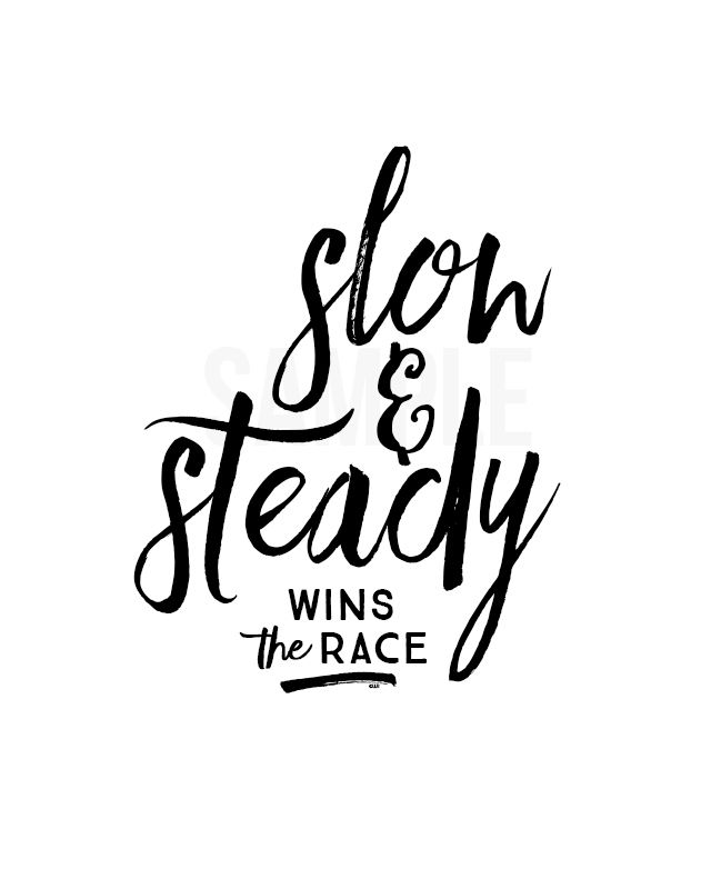 Latest HD Slow And Steady Wins The Race Quote