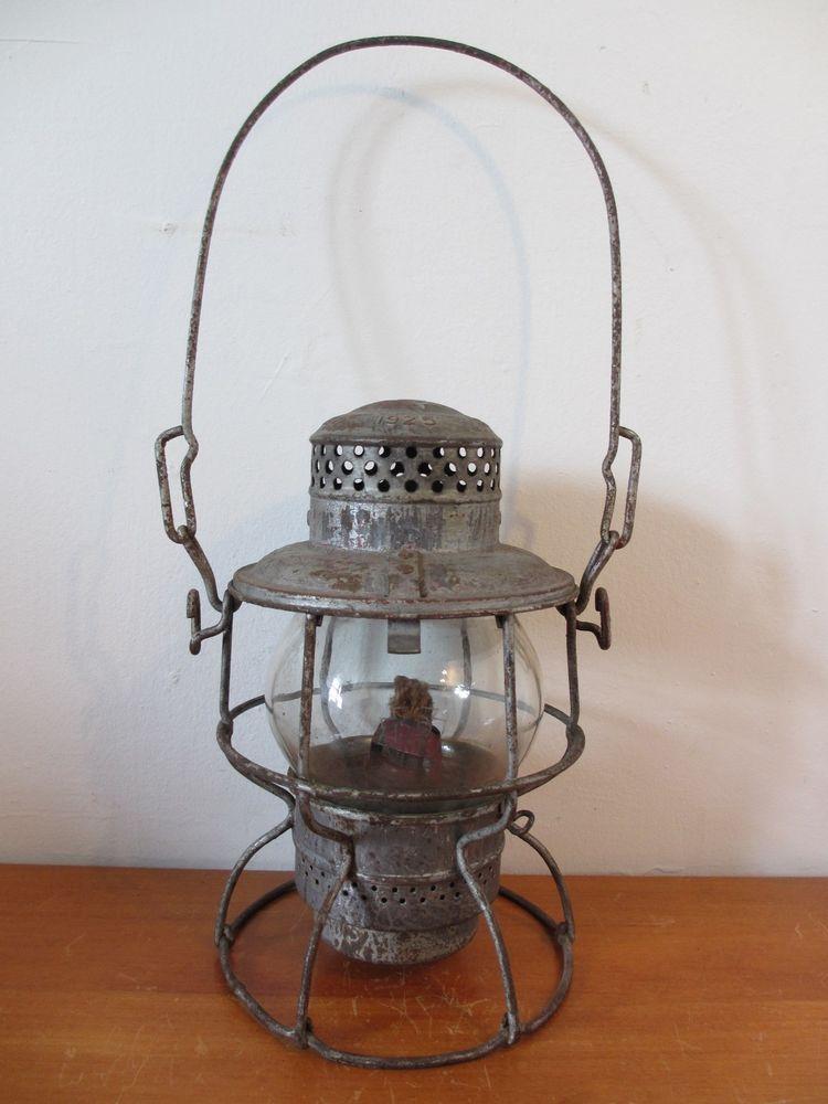 Details about Railroad Lantern Clear Globe 1925 Armspear Mfg