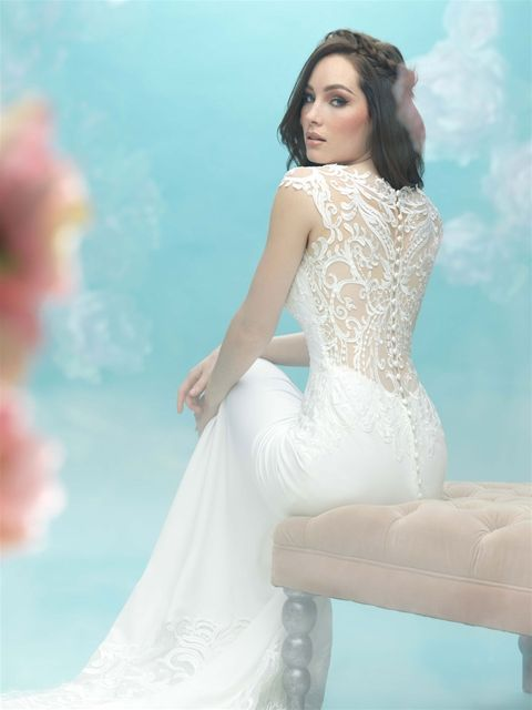 9469 in ivory/nude, sample size 10 | Manchester-Allure Bridals ...