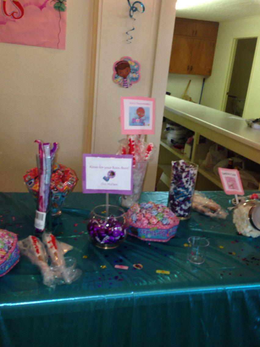 Doc mcstuffins candy table (half of it)