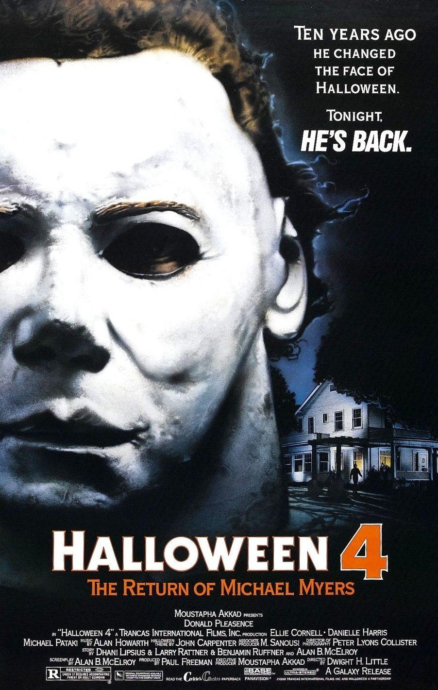 Halloween Parte 4 Michael Myers Peliculas De Terror Peliculas
