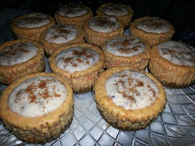 Sweet Carrot Symphony (Sweet Potato Carrot Cheesecake w/Apple Pecan Cream Cheese Frosting)