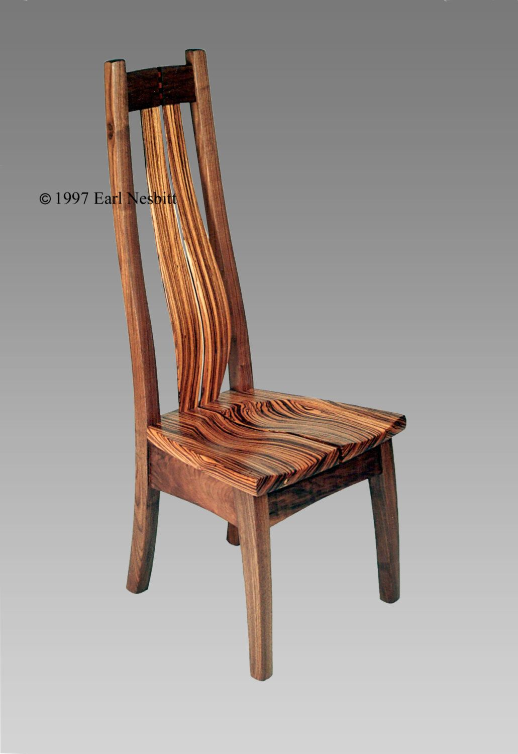 Chair zebrawood walnut Shipping crates Tung oil and Crates
