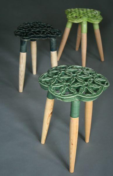 Keramikværkstedet - Nina - bankje en kruk