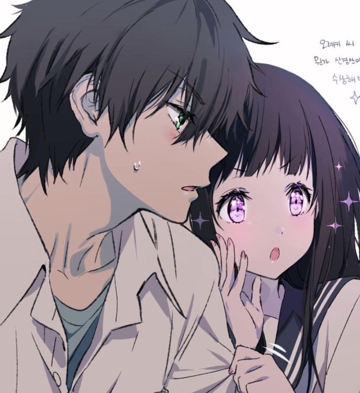 Hyouka Casais bonitos de anime, Desenhos de casais anime