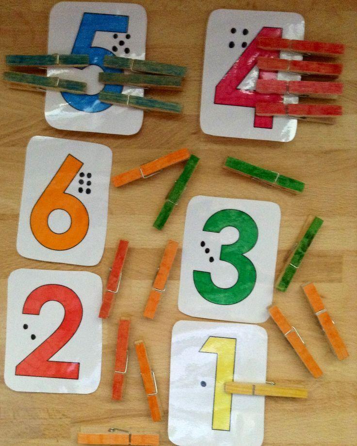 Ganz einfach mit Farben Zahlen lernen. #kita #kiga #kindergarten ...