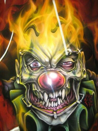 bfcb8ea9 Insane Clown, Clown Faces, Wicked Jester, Evil Jester, Evil Clowns, Scary