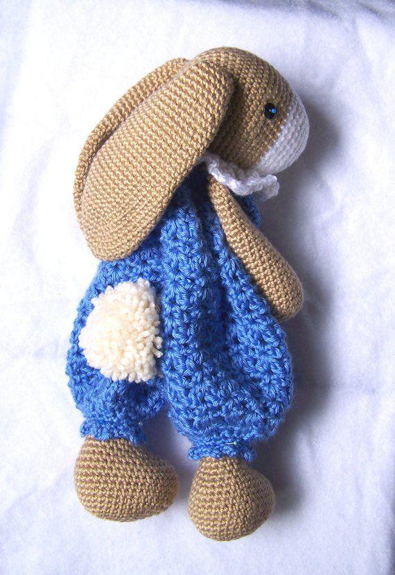 Crochet Bunny Pattern-Crochet Rag Doll Bunny Pattern-Amigurumi ...