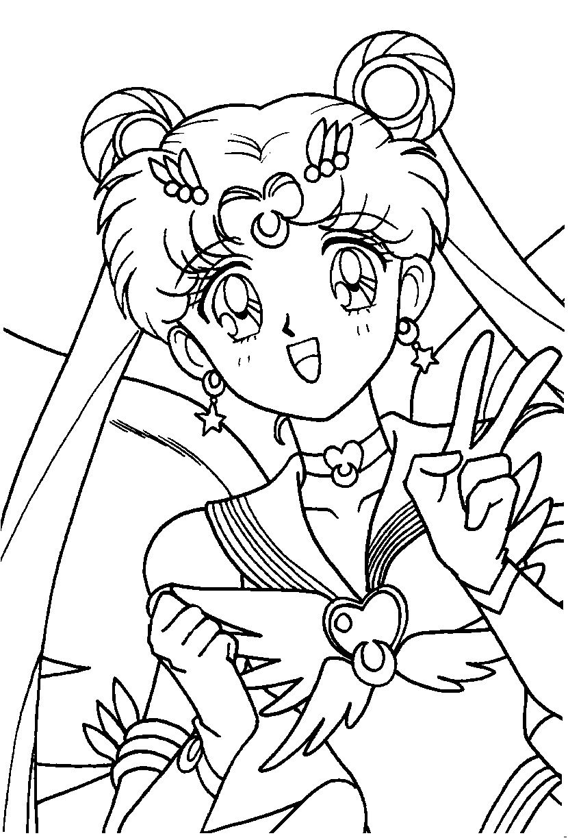 Eternal Sailor Moon Coloring Page Sailor Moon Coloring Pages