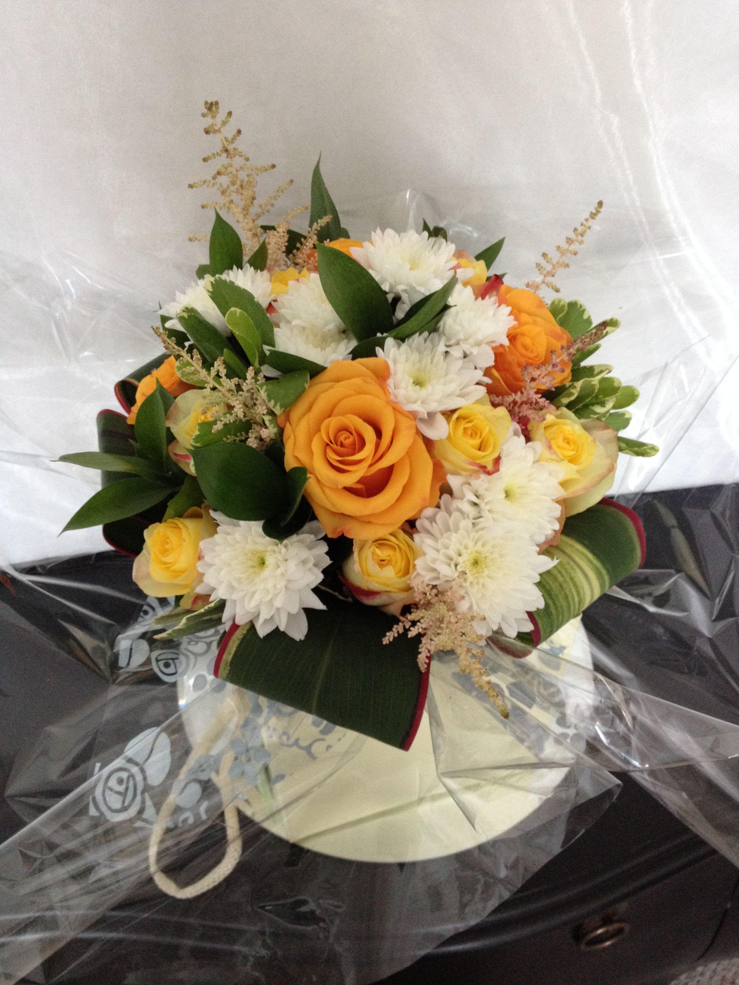 summer colours hand tied bouquet gift flower arrangement in aqua