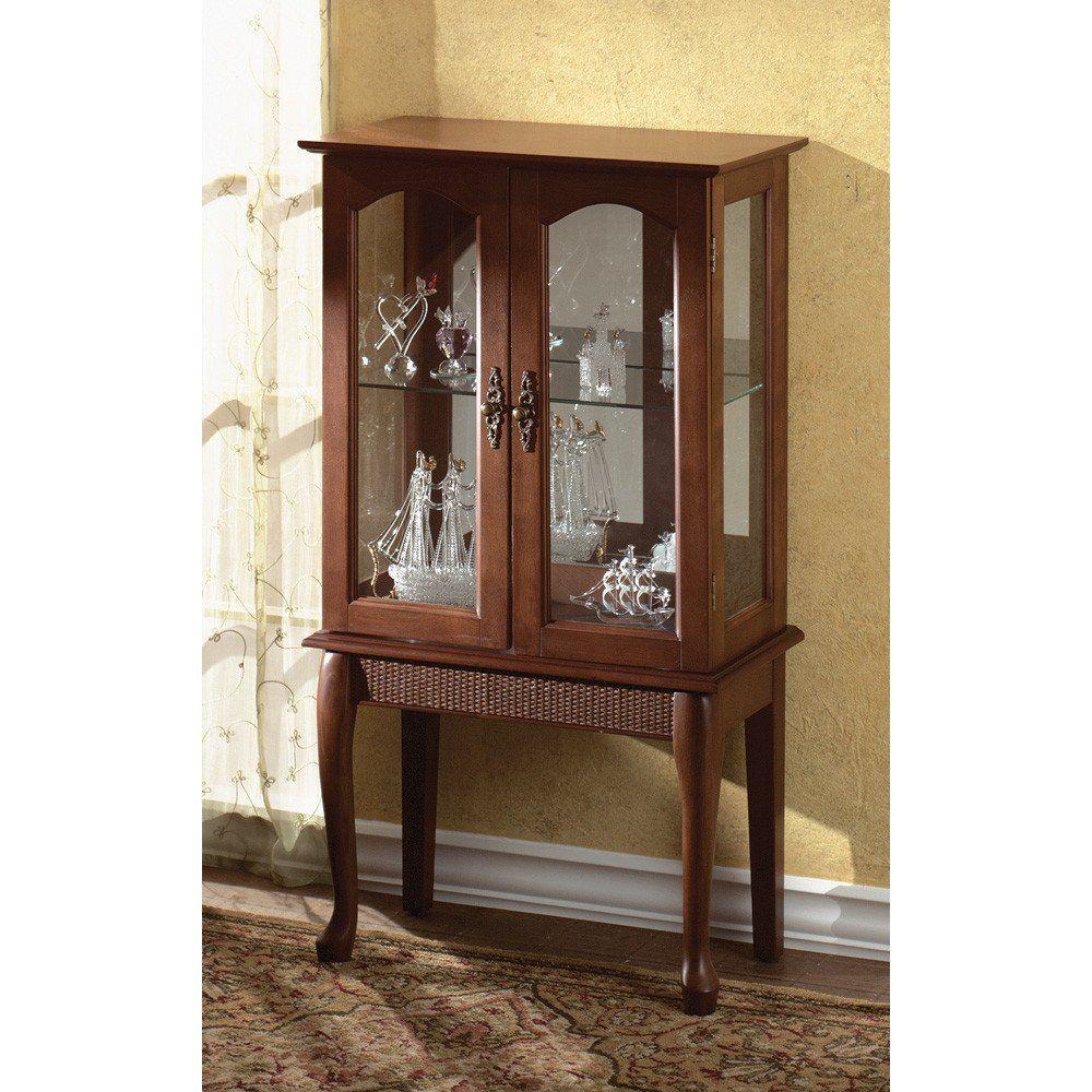 Simply Elegant Curio Cabinet Glass Curio Cabinets Curio Cabinet Cabinets For Sale
