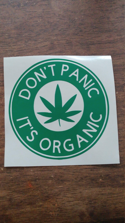 Don T Panic It S Organic Vinyl Decal Custom Etsy Custom Vinyl Decal Vinyl Decals Vinyl [ jpg ]