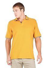 NWT TexereSilk Mens Short Sleeve Polo Shirt Oxford Sportswear GOLDEN GLOW XL