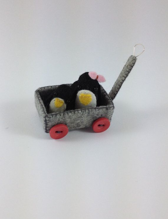 Penguins on the cart. by plushimoto@etsy