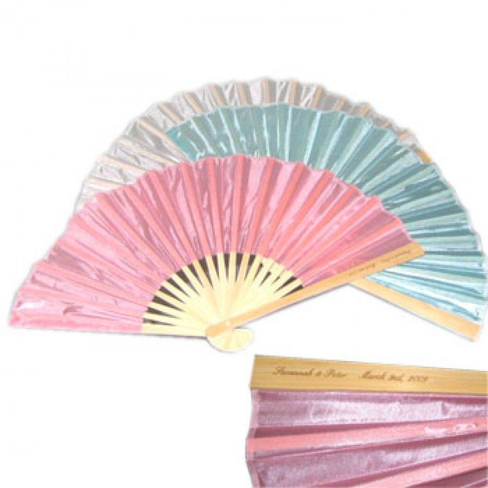 Wedding Silk Fans Personalized BULK (4 Colors) [Wedding Silk Fans ...