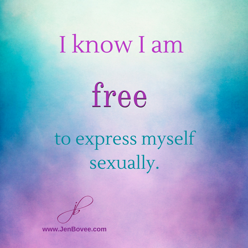 How to express yourself sexually