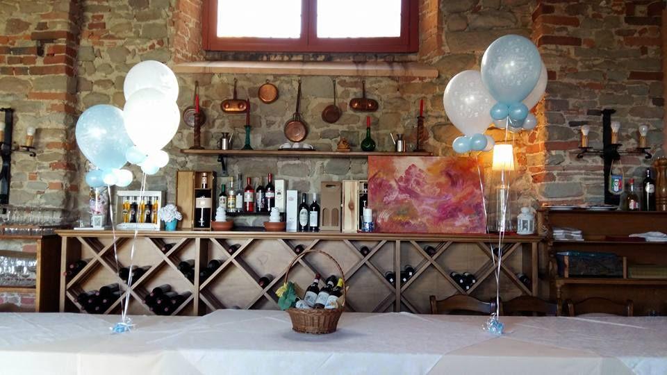 Tavolo Nascita ~ Palloncini tavolo per battesimo ballo