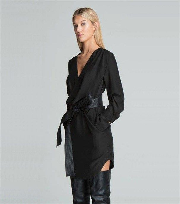 Pilot Shirt Dress by Bless'ed Are The Meek