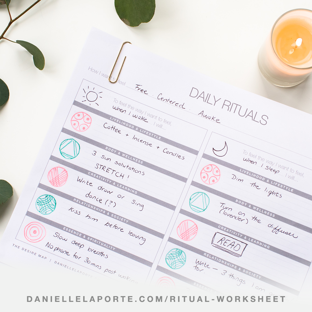 The Daily Ritual Worksheet To Keep Your Core Desired