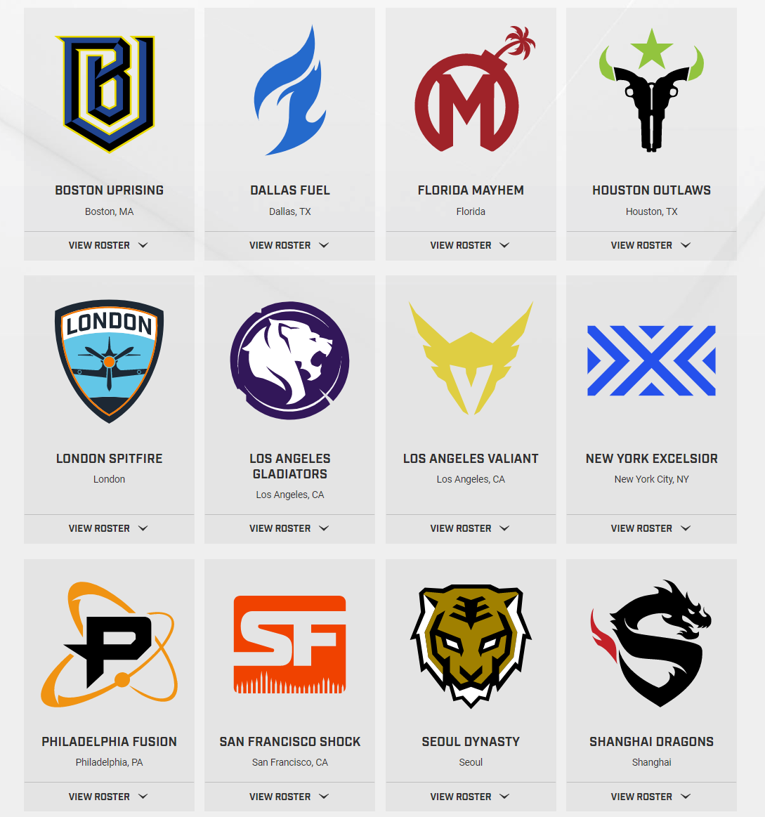 Image result for Current overwatch league teams