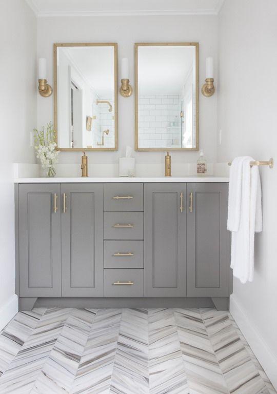 Style HouseProverb Girl Pinterest Chevron Floor Gray Vanity - Marble slab for bathroom vanity