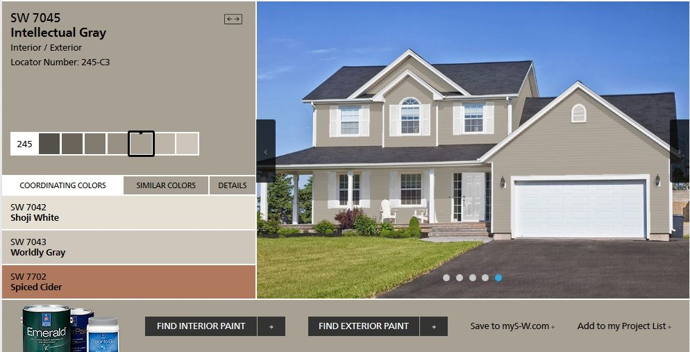 Sw 7045 Intellectual Gray In 2019 House Paint Exterior