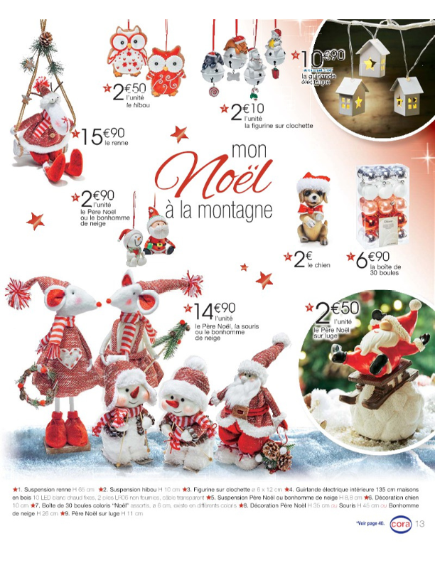 Cora catalogue decoration de noel