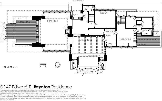 Exceptional frank lloyd wright home plans 5 frank lloyd for Zimmerman house floor plan