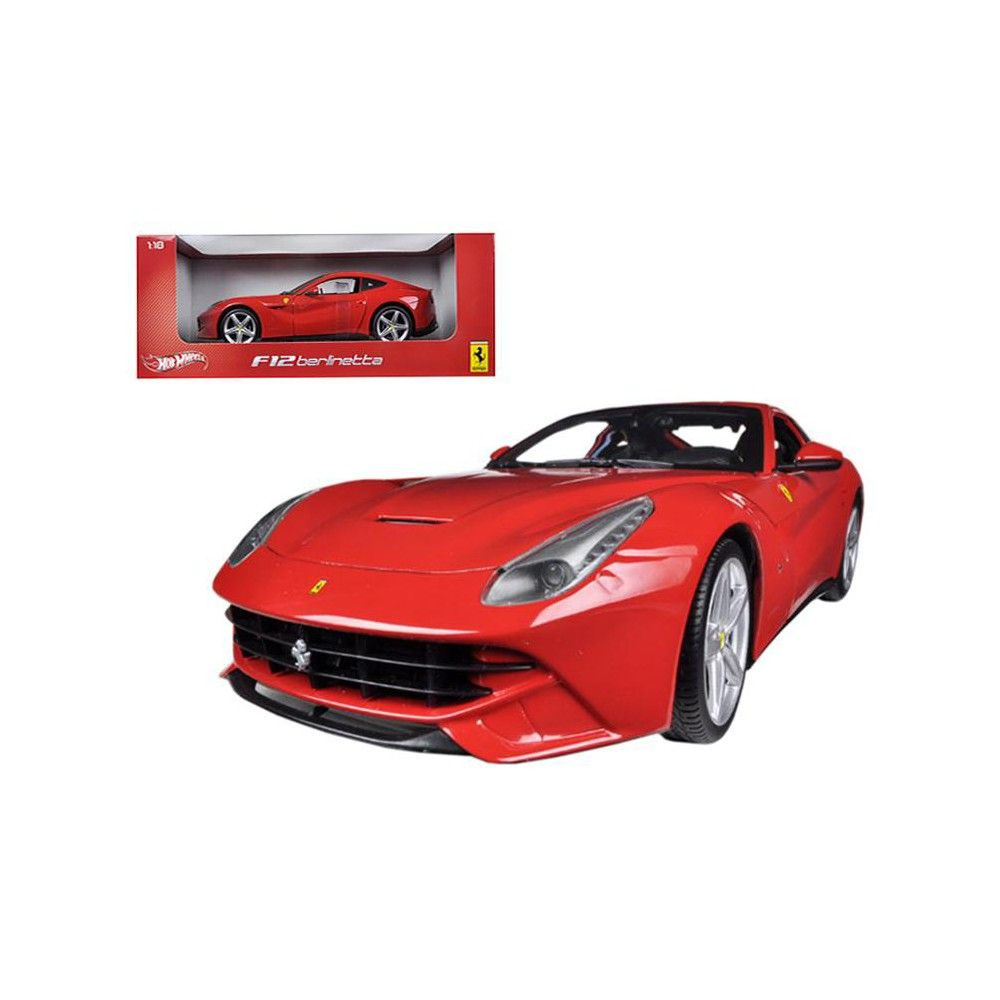Ferrari F12 Berlinetta Red 1 18 Diecast Car Model By Hotwheels Car Model Diecast Cars Sports Car Brands