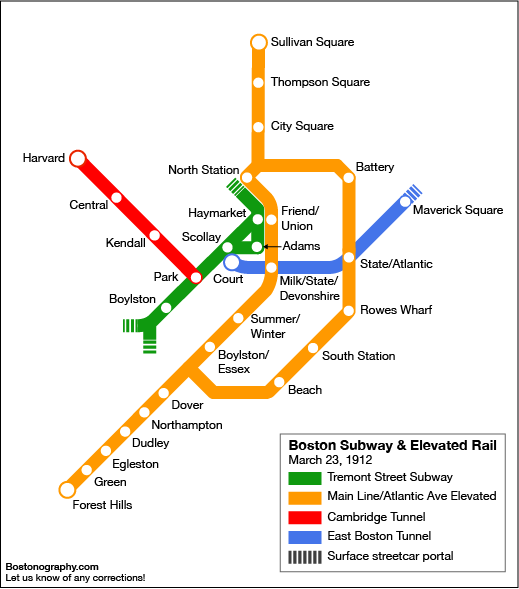 Happy Birthday Red Line Bostonography Boston Transit Map