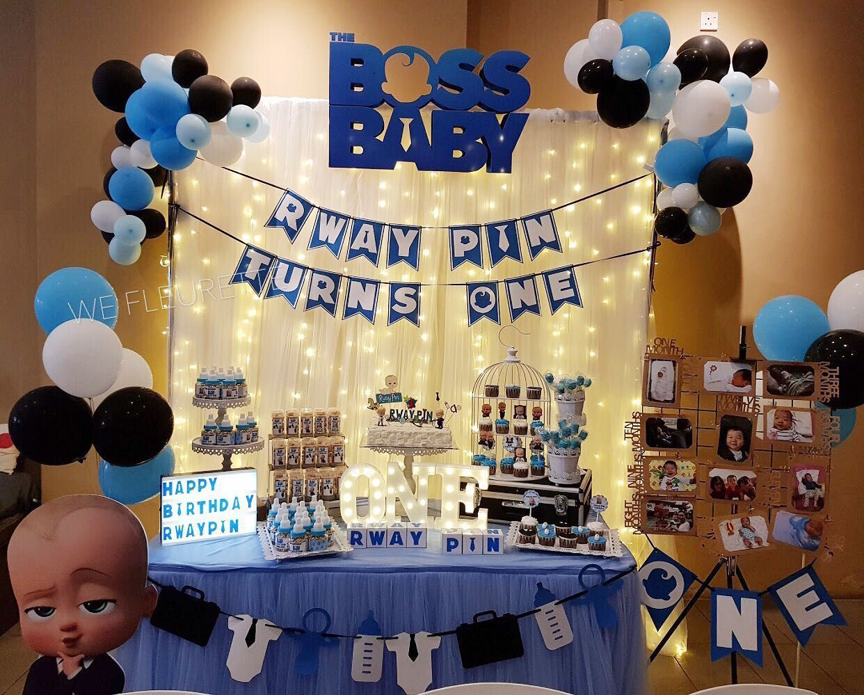 Buy Birthday Decoration Dessert Table Boss Baby Theme In
