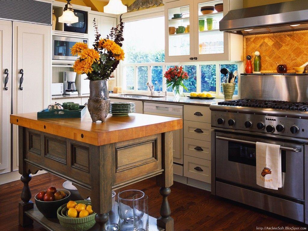 Landelijk Geel Keuken : Gratis wallpapers keuken interieur wallpapic hoge