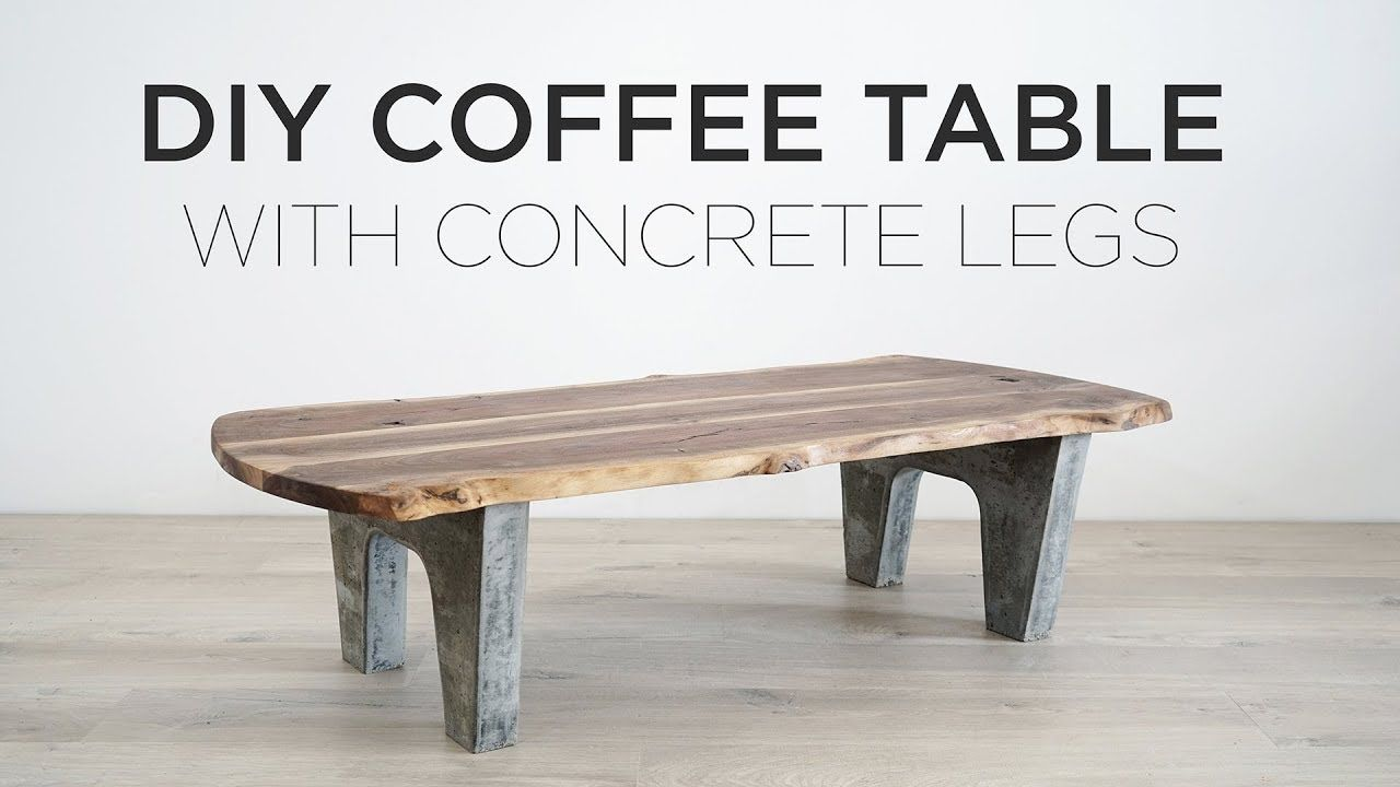 Couchtisch Do It Yourself Diy Coffee Table With Concrete Legs Hoperises Diy Coffee Table