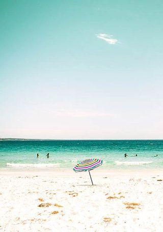 Beach umbrella photography beach ocean photography nautical decor 8x10 8x12 fine…