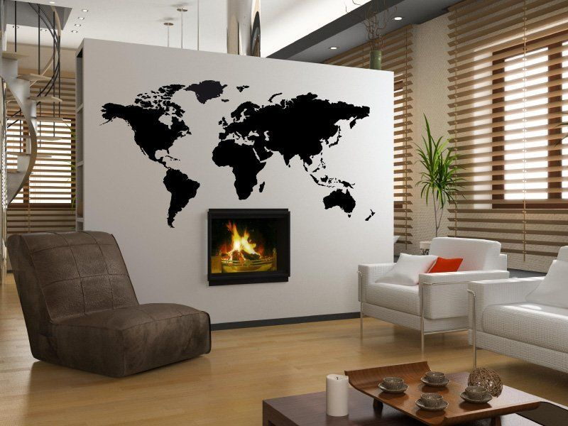 magic stickers sticker d coratif mural sticker mappemonde new home pinterest mappemonde. Black Bedroom Furniture Sets. Home Design Ideas