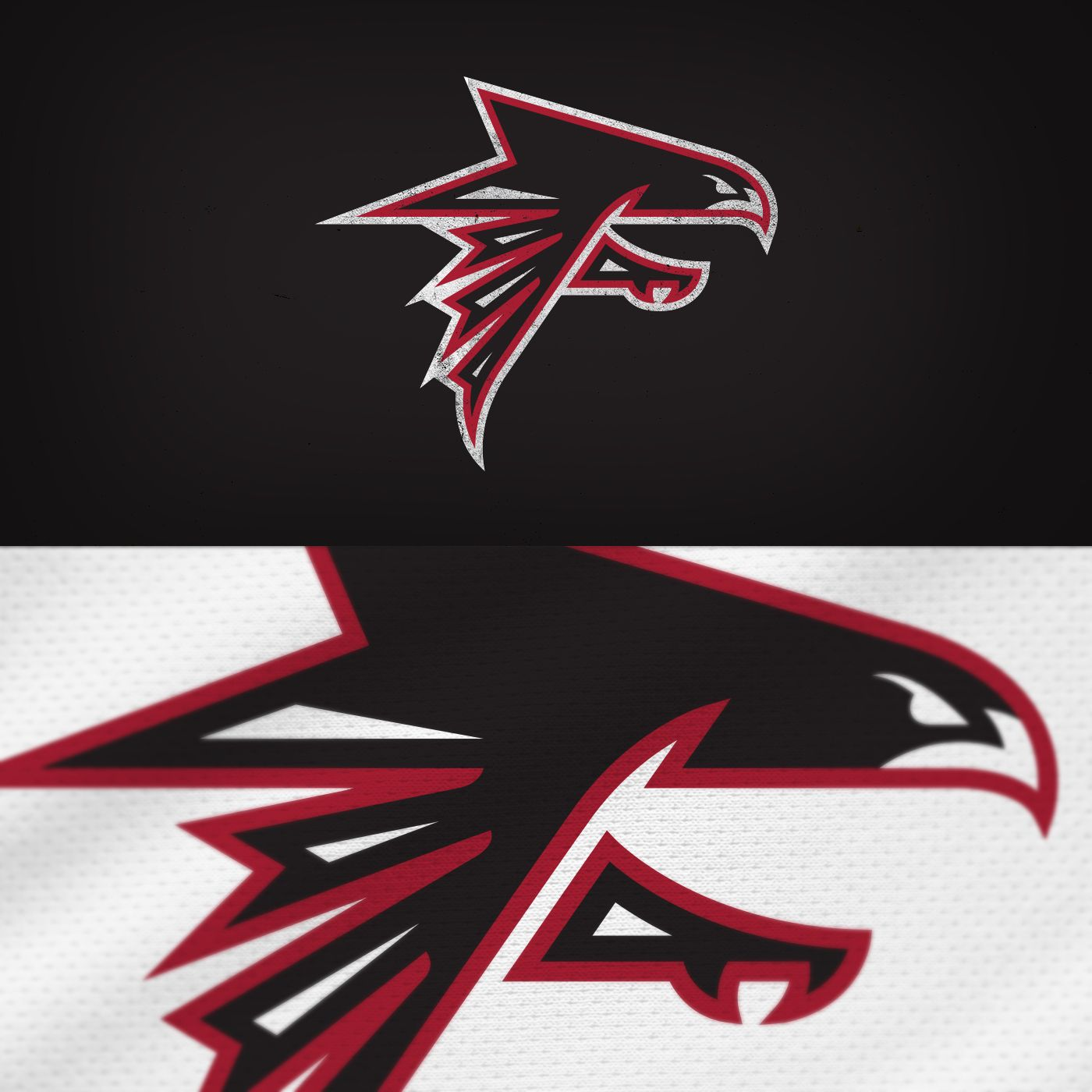 Every Nfl Team Logo Redesigned On Behance Falcons Atlantafalcons Nfl Football Nfl Teams Logos Team Logo Logo Redesign