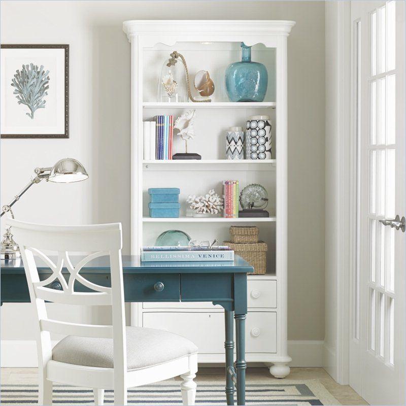 Coastal Living Retreat Bookcase In Saltbox White 411 25 19 Casas