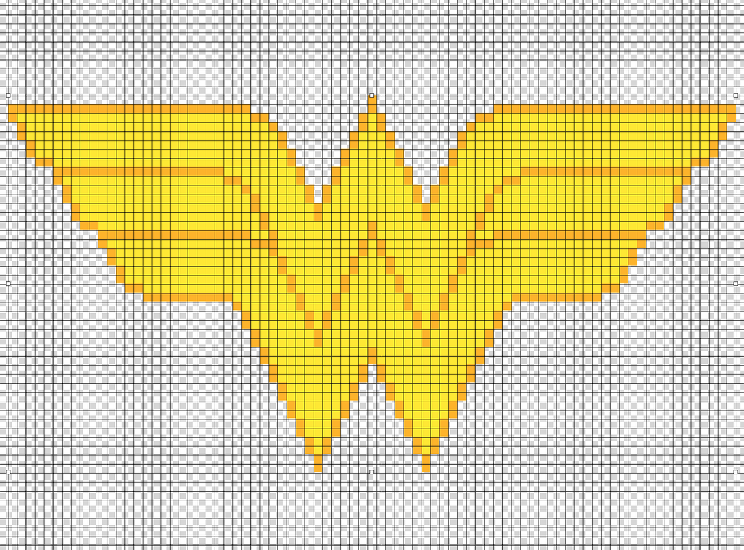 Wonder Woman perler bead pattern by Kyle McCoy