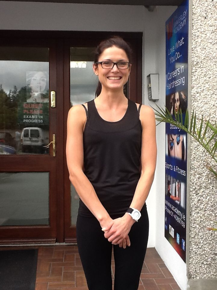 Another of our international students Zivile (Lithuania) looking very relaxed before her personal trainer and gym instructor exams. — at Waverley Academy.