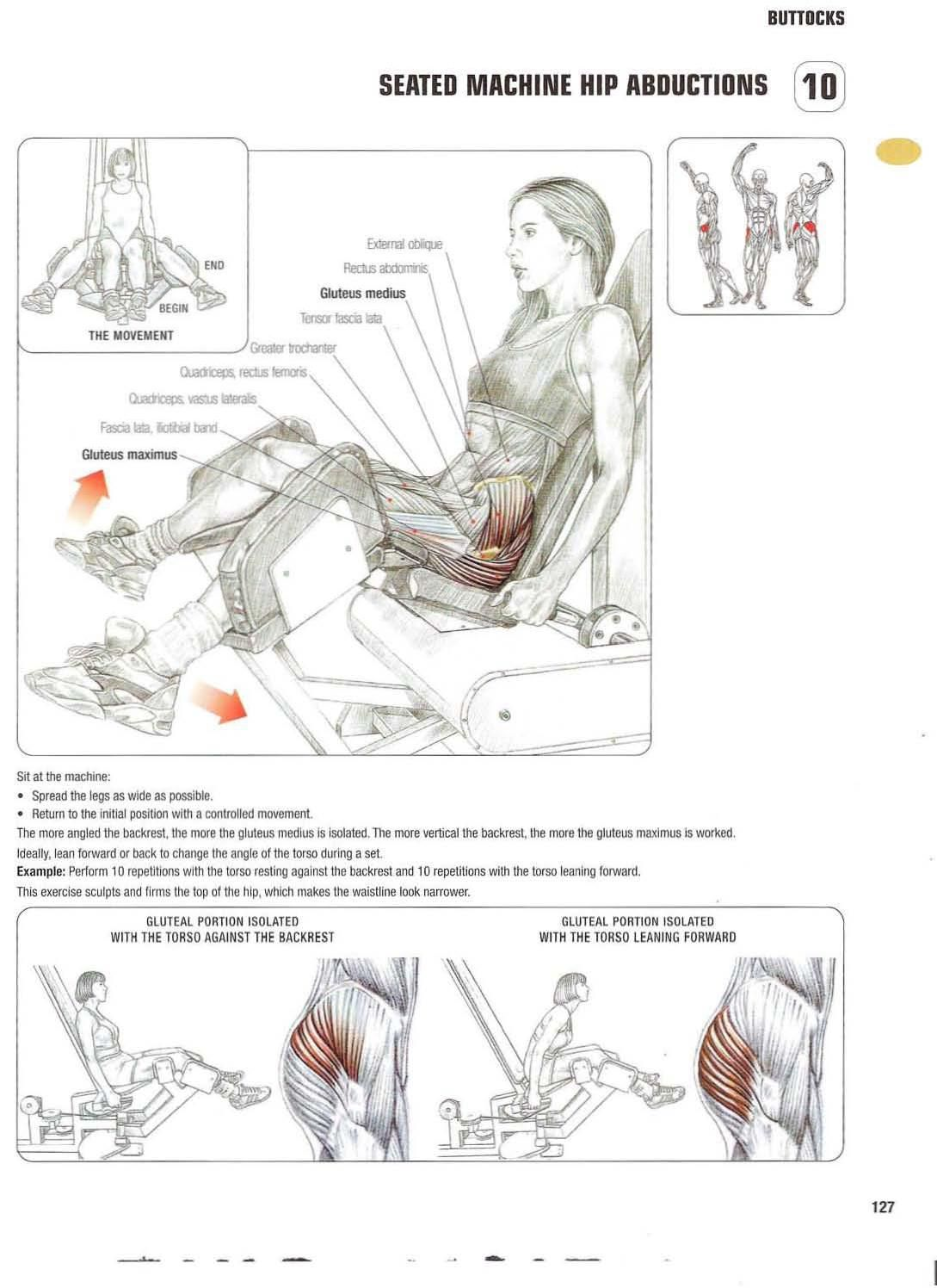 Strength training anatomy Seated machine hip abductions Bigger ...