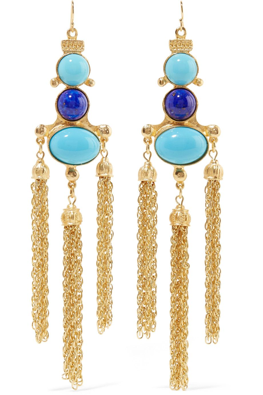 Shop onsale BenAmun Goldtone stone earrings. Browse