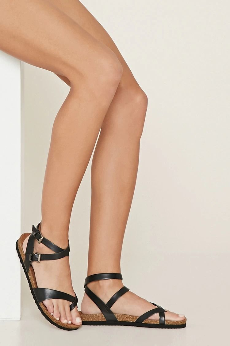 292b03eb16a Crisscross Faux Leather Sandals  summerdaze